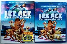 ICE AGE COLLISION COURSE BLU RAY DVD 2 DISC SET + SLIPCOVER SLEEVE FREE SHIPPING