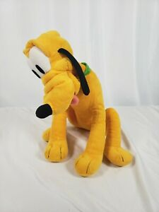 Disney Kohls Cares Pluto Dog Plush Stuffed Animal Mickey Mouse Green Collar 2014