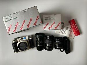 Mamiya 7II Champagne Gold Film Camera Kit - 65mm f/4, 80mm f/4, 150mm f/4