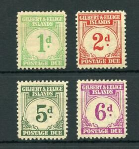 Gilbert & Ellice Islands 1940 Postage Due values to 6d MVLH cat £77