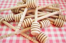 "NEW 100Pcs 4"" 4inch MINI Wooden Honey Dippers Stick Wood Spoon Lot Wholesale Set"