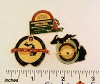 3 Little League Baseball PINs - MI 1989 1987 Tournament Pins