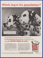 Vintage 1957 GAINES Meal Dog Food Pet Dalmatian Ephemera Art Decor 50's Print Ad
