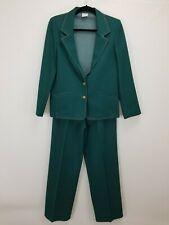 Vintage 70s Women's Graff Californiawear Pants Suit No Size Tag Green Polyester