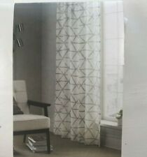 """Project 62 Curtain Panel 54"""" x 84"""" Gray White Sketched Triangle 1 Single Panel"""