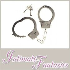 Stainless Steel Handcuffs Bondage Roleplay Slave Solid Heavy Metal Hand Cuffs
