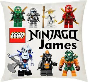 Personalised Kids Lego Ninjago Soft Cushion Cover, 40x40cm Boys
