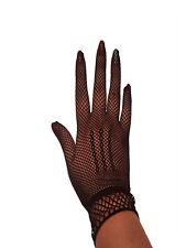 Netz Damen Handschuhe Netzhandschuhe kurz Hochzeit Gala Gothic  super Passform