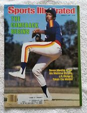 Sports Illustrated March 2, 1981; The Comeback Begins, J.R.Takes the Mound-RARE!