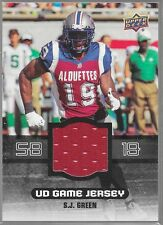 2014 Upper Deck CFL Game Jersey SJ Green GJ-SG Alouettes