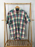 Ralph Lauren Men's Blake Plaid Pony Short Sleeve Button Down Shirt Size L