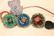 BEYBLADE HASBRO Metal Fusion LOT of 3  Pegasus Wolf Striker Masters 4D Burst
