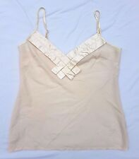 AS NEW Ladakh Size 10 Top Singlet Tank Cami Sleeveless Cream Casual Event Glam