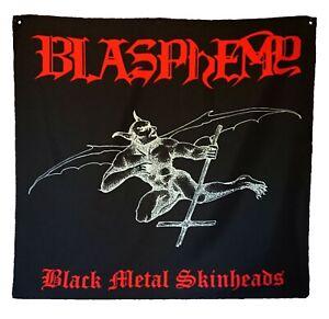 Blasphemy BMS Textile poster flag. Black Metal. Revenge. Archgoat. Conqueror.