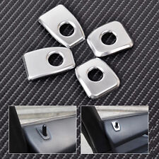 4x Matt Chrome Door Lock Pins Cover Trim For BMW X5 F15 2014 2015 X6 F16 2015