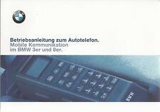 BMW Autotelefon KOMMUNIKATION 1997 für 3er / 8er Bedienungsanleitung Handbuch RN