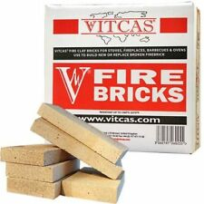 VITCAS Replacement Fire bricks for Stoves & Fireplaces x 6