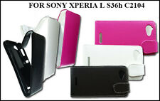 NEW STYLISH PU LEATHER FLIP PHONE CASE COVER POUCH FOR SONY XPERIA L S36h C2104