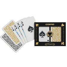 Copag Bridge Size Regular Index 1546 Playing Cards (Black/Gold) New