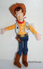 "12"" Disney Store TOY STORY 3 COWBOY SHERIFF WOODY PLUSH bean bag DOLL HARD FACE"