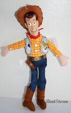 "12"" Disney Store TOY STORY 3 COWBOY SHERIFF WOODY PLUSH bean bag DOLL HARD FACE"