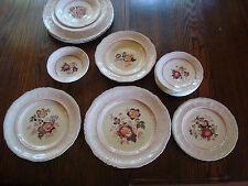 18 pc vintage dinnerware Mason's Paynsley pink plates & bowls