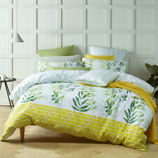 Bianca Tendril Green King Bed Size Duvet Doona Quilt Cover Set
