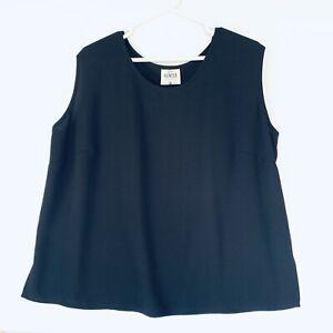 Eve Hunter Black Sleeveless Evening Top Plus Size 24