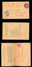 Gb Ke7 1903 Stationery Reply Card Printed Vanity Fair Cartoons Eton College