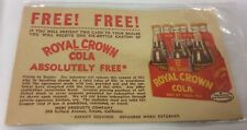 Vintage NeHi ROYAL CROWN COLA Advertising Postcard Coupon FRESNO CALIFORNIA