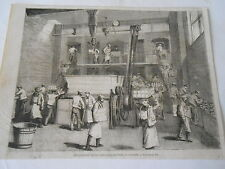 Boulangerie de la Compagnie Stevens à Londres London Antique Old Print 1863