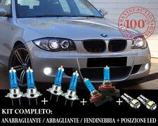 BMW SERIE 1 E81 E82 E87 E88 SET COMPLETO LAMPADE BLU XENON + POSIZIONE A LED