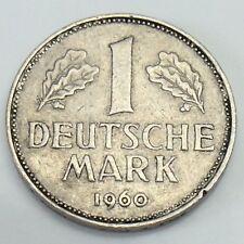 1960 J German One 1 Deutsche Mark Nickel German Circulated Coin F235