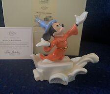 Lenox Disney Mickey's Big Dreams Fantasia Figurine Sculpture W/Coa Nib 1stQ
