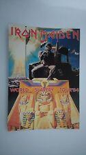 Iron Maiden world slavery tour 84 vintage music postcard POST CARD