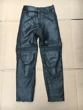 "SPORTEX Men's Leather Motorcycle Motorbike Trousers UK 29""- 30"" Waist (LUB8)"