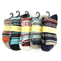Men's 5 Pair Warm Winter Thick wool Mixture Cashmere Casual Knit Socks US 7-10
