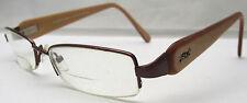 Hera & Luna By Vision & Fashion Eye Glasses Bifocals Brown Tone & Tan Plastic