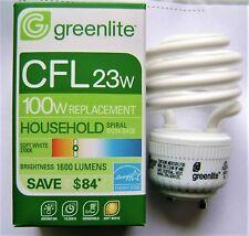 23W Mini Spiral CFL GU24 Base 2700K Compact Fluorescent Light Bulb 100W Equal