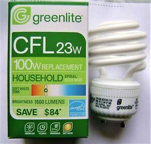 Greenlite 23W (100W Equal) GU24 Base 2700K Mini Spiral CFL Light Bulb