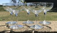 Vintage Clear Glass Cystal ? 4oz Champagne Glasses (5) Elegant!
