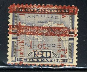 1906 Columbia Stamps  Panama Overprint SC181 A4 1c on 20c ERROR   🗺️  MHOG
