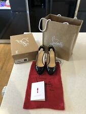 Christian Louboutin Lady Peep Chaussures vernies-Noir-Taille 36.5