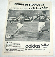 FOOTBALL POSTER PUB ADIDAS NIMES OL V RED STAR 1/4 FINALE COUPE DE FRANCE 1973