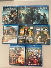 Lot of 8 Blu-ray - Harry Potter, Pirates, Marvel - Avengers, Hulk, America