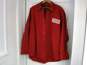 Vintage Chesterfield FREE SPIRIT Bicycles Red Long Sleeve Shirt Size XL