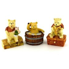 Willitts Classic Winnie The Pooh Tub Reading Log Disney Figurines Lot of 3 1988