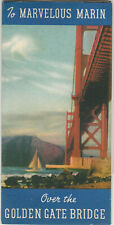 1940 Marvelous Marin Promo Brochure-Golden Gate Bridge