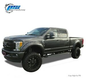 Pocket Bolt Fender Flares Fits Ford F-250, F-350 Super Duty 17-20 Paintable