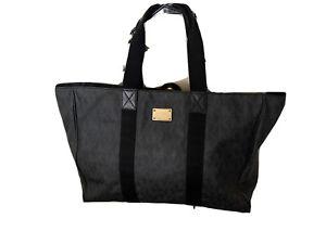 Michael Kors Jet Set Signature XL E/W Jacquard Leather Weekender Travel Tote Bag